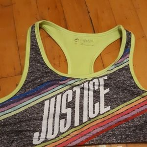 Justice athletic sports bra